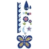 Blue Hills Studio ColorStories Glitter Bling Stickers Blue