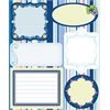 Blue Hills Studio ColorStories Embossed Cardstock Stickers Blue