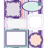 Blue Hills Studio ColorStories Embossed Cardstock Stickers Purple