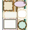 Blue Hills Studio ColorStories Embossed Cardstock Stickers Brown