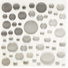 Epoxy Color Spots Stickers White/Gray