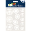 Gel Outline Daisy Stickers White