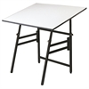 "Table Black Base White Top 36"" x 48"""