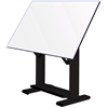 "Alvin Elite Table Black Base White Top 37.5"" x72"""