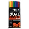 Tombow Dual Brush 6-Color Primary Pen Set