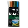 Tombow Dual Brush 6-Color Landscape Pen Set