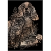 Engraving Art Set Copper Foil Kitten & Puppy