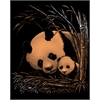 Engraving Art Set Copper Foil Panda & Baby