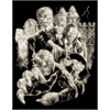 Royal & Langnickel Engraving Art Set Glow In The Dark Foil Monster