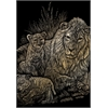 Royal & Langnickel Engraving Art Set Gold Foil Lion/Cubs