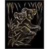 Engraving Art Set Gold Foil Koala Bears