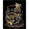 Royal & Langnickel Engraving Art Set Gold Foil Wolves