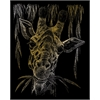 Engraving Art Set Gold Foil Giraffe