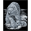 Royal & Langnickel Engraving Art Set Silver Foil Polar Bear & Cub