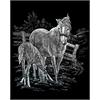 Royal & Langnickel Engraving Art Set Silver Foil Mare & Foal