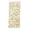 Dazzles Stickers Gold Potted Flower