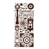 Dazzles Stickers Brown Clock