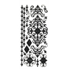 Dazzles Stickers Black Flourish
