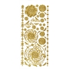 Dazzles Stickers Gold Aqua Lily