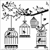 "The Crafter's Workshop 12"" x 12"" Design Template Birds of a Feather"