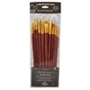 12-Piece White Bristle Long Brush Set 1