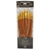 Royal & Langnickel 9300 Series  Zip N' Close 12-Piece Bone Taklon Long Brush Set 2