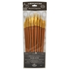 Royal & Langnickel 9300 Series  Zip N' Close 12-Piece Bone Taklon Long Brush Set 1