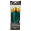Royal & Langnickel 9300 Series  Zip N' Close 12-Piece White Taklon Long Brush Set