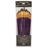 12-Piece Burgundy Taklon Long Brush Set 2
