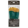 12-Piece White Taklon Brush Set 1