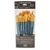 Royal & Langnickel 9300 Series  Zip N' Close 12-Piece Gold Taklon Brush Set 2
