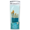 Royal & Langnickel 9100 Series  Zip N' Close Teal Blue 10-Piece Brush Set 3