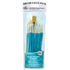 Royal & Langnickel 9100 Series  Zip N' Close Teal Blue 10-Piece Brush Set 2