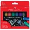 Faber-Castell Gel Sticks 6-Color Metallic Set