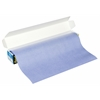 "12"" x 12' Wax-Free Transfer Paper Roll Blue"