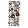 Dazzles Stickers Brown Mums