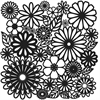 "6"" x 6"" Design Template Flower Frenzy"