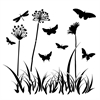"6"" x 6"" Design Template Butterfly Meadow"