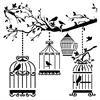 "The Crafter's Workshop 6"" x 6"" Design Template Birds of a Feather"