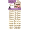 Dazzles Happy Birthday Greetings Gold Glitter Stickers