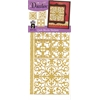 Dazzles Stickers Quilt Blocks Gold