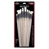 White Bristle Combo Brush Set