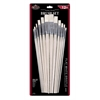 Royal & Langnickel White Bristle Flat Brush Set