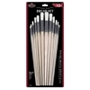 White Bristle Round Brush Set