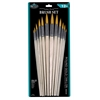 Gold Taklon Round Brush Set