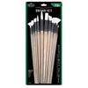 Royal & Langnickel White Taklon Combo Brush Set