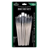 Royal & Langnickel White Taklon Round & Flat Brush Set
