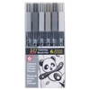 Koi Coloring Brush Pens 6-Grays Set