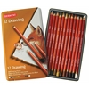 Derwent Drawing Pencil 12-Color Tin Set