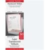 """8.5"""" x 11"""" Laser Printable Translucent Vellum"""